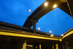 City overpass at night Stock Photo