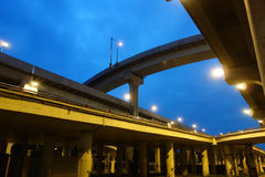 City overpass at night Royalty Free Stock Photo