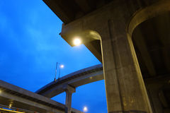 City overpass at night Stock Photography