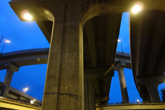 City overpass Royalty Free Stock Photography