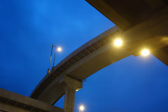City overpass Royalty Free Stock Photo