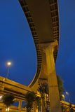 City overpass at night Stock Photos