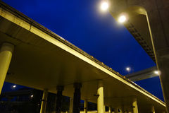 City overpass at night Royalty Free Stock Photos