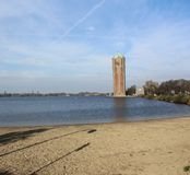 Water tower aalsmeer, in the Netherlands. City overview of Aalsmeer in the Netherlands Royalty Free Stock Photo