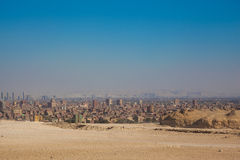 City overview of Giza. Egypt royalty free stock photos