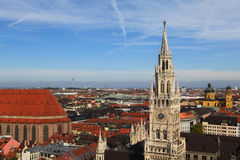 City overview, Munich Germany Royalty Free Stock Images