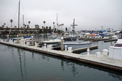 City of Oxnard Marina. Recreational and fishing boats at the dock in Oxnard marina, Ventura county, Southern California Pacific coast; copy space Stock Photography