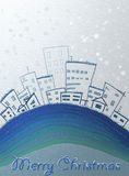 City painted with the words Merry Christmas Stock Image