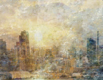 City Painting Bright Royalty Free Stock Photo