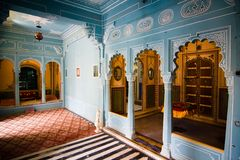 The city palace. Interior view of the city palace - Udaipur, Rajasthan, India Stock Images