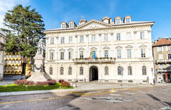 City Palace of Domodossola, Italy. City Palace of Domodossola, Piedmont, Italy Stock Image