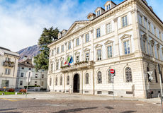 City Palace of Domodossola, Italy. City Palace of Domodossola, Piedmont, Italy Stock Photos