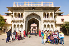 City Palace Entrance Gate, Jaipur, India Stock Photo