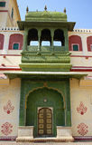 City Palace in Jaipur (India). Old, green gate to the City Palace in Jaipur (India Royalty Free Stock Photography