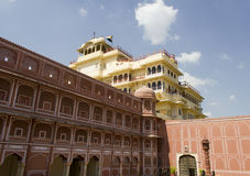 City Palace of Jaipur, India. City Palace, Jaipur, which includes the Chandra Mahal and Mubarak Mahal palaces and other buildings, is a palace complex in Jaipur stock photography