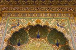 City Palace Jaipur Peacock Doors Royalty Free Stock Image