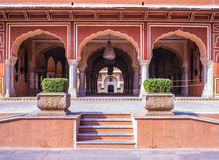 City Palace Jaipur Rajasthan India. Arches and columns in the City Palace in Jaipur. Rajasthan, India Royalty Free Stock Images