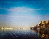 City Palace, Lake Palace and Lake Pichola. Udaipur, India Royalty Free Stock Images