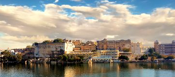 City Palace, Located on Lake Pichola royalty free stock images