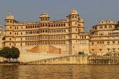 City Palace main buidling from the lake Royalty Free Stock Photo