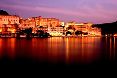 City Palace Museum Udaipur, Rajasthan at Night time Stock Photography