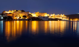 City Palace at night, Udaipur, Rajasthan, India. Stock Photo