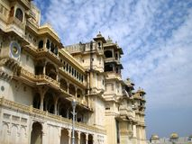 City Palace Udaipur. The facade of the City Palace in Udaipur, India royalty free stock photo