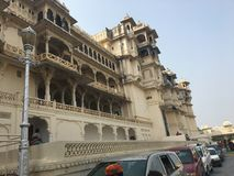 City palace , Udaipur . City palace is most beautiful historic buildings Royalty Free Stock Photo