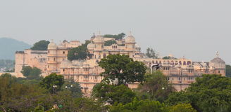 City palace, udaipur, rajasthan, India. The  beautiful dome, the window, the arches are giving grandeur to the palace. maharana uday singh built the palace in Stock Photography