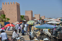 City palace walls of Marrakesh-Morocco Royalty Free Stock Photo