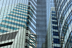City pale. Design of towerblocks in Bangkok Royalty Free Stock Images