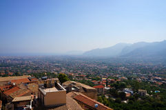 The city of Palermo seen from Monreale Royalty Free Stock Image