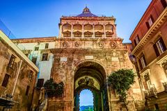 City of Palermo, the New door in a unique baroque renaissance style Stock Images
