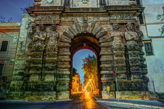 City of Palermo, the New door in a unique baroque renaissance style Royalty Free Stock Images