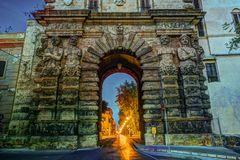 City of Palermo, the New door in a unique baroque renaissance style Royalty Free Stock Photo