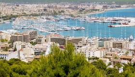 City of Palma de Mallorca Balearic island. Aerial view of Palma de Mallorca in Majorca Balearic islands Spain Stock Photo