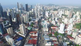 City of Panama. With a view of buildings stock video footage