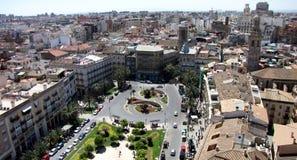City panorama. Beautifull panorama of Valencia city, at sunrise Stock Photos
