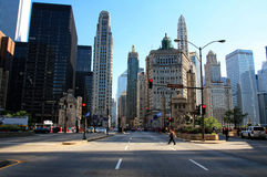 City Panorama. CHICAGO, IL - JULY 13: View of Chicago from Hancook Tower Stock Image