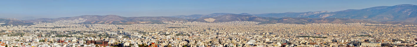 City panorama of Athens in Greece stock image