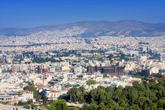 City panorama of Athens Royalty Free Stock Photos
