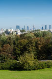 City panorama from hill, Warsaw Royalty Free Stock Photos
