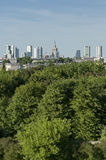 City panorama from hill, Warsaw Stock Image