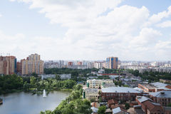 City panorama. Panorama of Moscow from height of the birds flight Stock Images