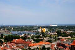 City. Panorama of the northern Polish - Gdańsk Stock Photo