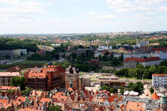 City. Panorama of the northern Polish - Gdańsk royalty free stock photography
