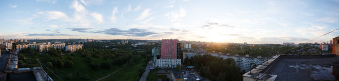 City panorama. From the rooftop Royalty Free Stock Image