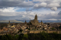 City panorama of Segovia Royalty Free Stock Image