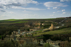 City panorama from Toledo castle. Panorama of Toledo city in Spain Stock Image