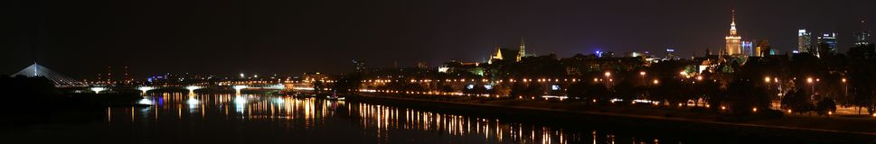 city panorama warsaw Στοκ φωτογραφίες με δικαίωμα ελεύθερης χρήσης
